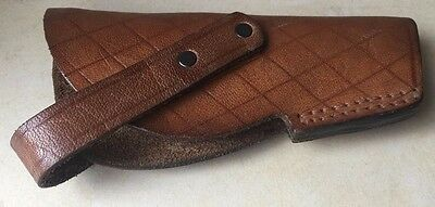 Vintage Collectible Retro Thick Genuine Leather Police Officer's Pistol Holster