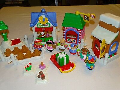 Fisher-Price Little People Christmas On Main Street Play Set - Complete