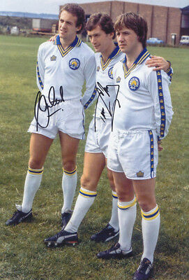 *REDUCED PRICE* HAND SIGNED 12x8 PHOTO LEEDS 1980 CHERRY & CURTIS