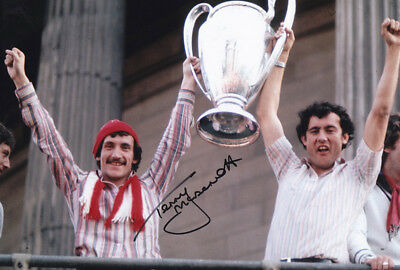 *REDUCED PRICE* HAND SIGNED 12x8 PHOTO LIVERPOOL 1977 TERRY McDERMOTT