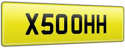 X5 Oooh Theme Car Reg Number Plate X50 Ohh Supplied On Retention & All Fees Paid
