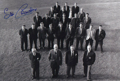 *REDUCED PRICE* HAND SIGNED 12x8 PHOTO MAN UNITED 1958 STAN CROWTHER