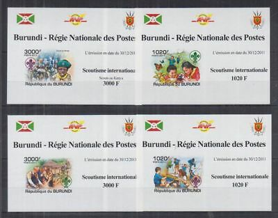 M67. Burundi - MNH - Scouts - Nature - 2011 - Deluxe - Imperf