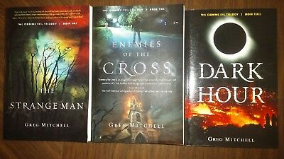 The Coming Evil Trilogy Book Set by Greg Mitchell..Christian Fiction