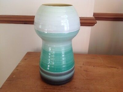 "Shelley Harmony Ware-Art Deco-Pottery Vase 1930-1940-10"" High"