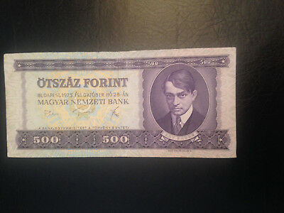 Hungary banknote 500 Forint 1975 !!!!!