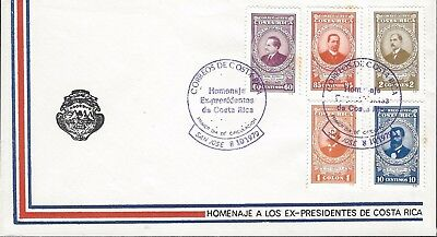 Costa Rica Tribute to the Ex-Presidents, Portraits Sc C768-C772 FDC 1979