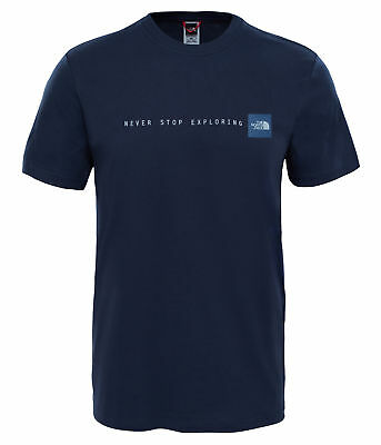 The North Face Mens NSE Tee - Cotton T-shirt - Urban Navy