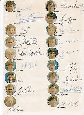 Leeds United 1983/84 Authentic Signatures