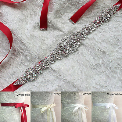Weddings Handmade Crystals Diamond Rhinestone Sash Bride Queens Wedding Belts