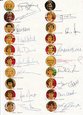 Manchester United 1983/84 Authentic Signatures