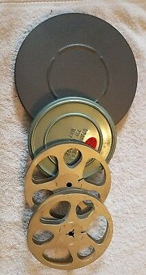 8mm Movie Film Reel and can Lot.