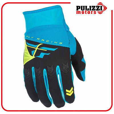 Guanti Mx Moto Cross Enduro Fly F-16 Blu Nero Giallo
