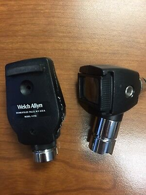 Lot of 2  - Welch Allyn 25020A and 1 - 11710 Otoscope, Ophthalmoscope