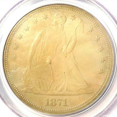 1871 Seated Liberty Silver Dollar $1 - PCGS Uncirculated Details(UNC MS) - Rare!