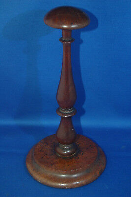 A good quality antique Victorian solid wood hat stand or barristers wig stand
