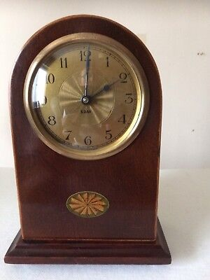 Stunning Mahogany 8 Day Mantel Clock In Working Order 19th/20th Century
