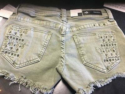 Grace in LA Olive Embroidery Shorts