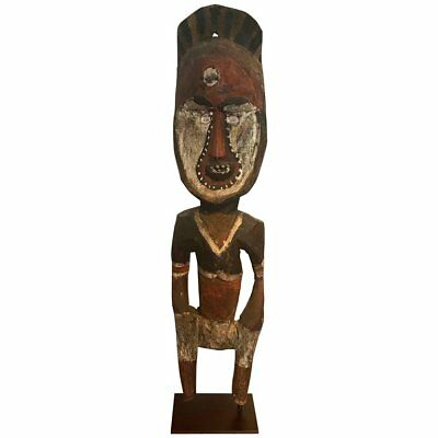 Yam Ancestor Figure on Stand from Papua New Guinea