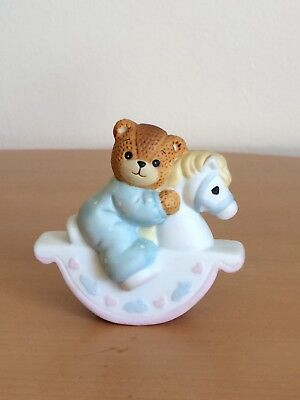 """Lucy Rigg~Lucy and Me Bear """"Baby Boy on Rocking Horse"""""""