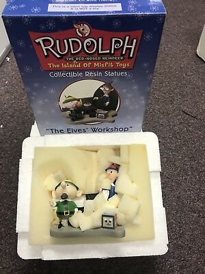 "Rudolph Island Misfit Toys""The Elves'Workshop""Resin Statues NIB!"