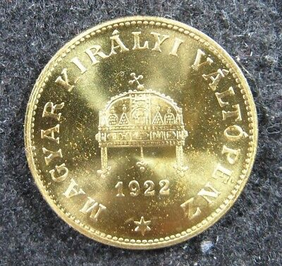 1922 Hungary 20 Filler Brass Restrike Proof KM 498a Very Nice PQ