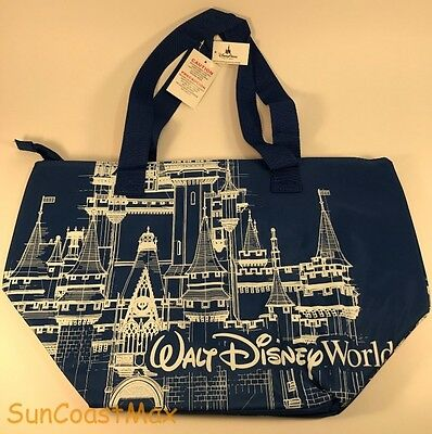Walt Disney World Blue Insulated Castle Large Tote Bag Cooler