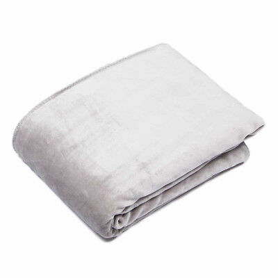 Malini Super soft cosy throw in Silver two sides sheepskin & velvet 150 x 200cm