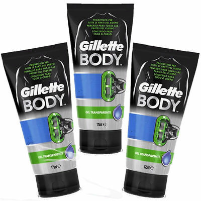 GILLETTE BODY GEL RASATURA CORPO UOMO - 3 conf. da 175 ml