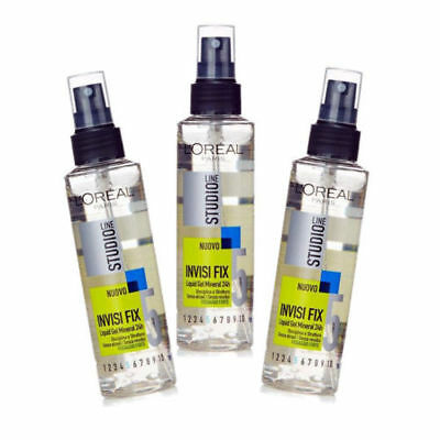 Gel Fissativo liquido SPRAY L'Oreal Studio Line INVISI FIX 24H  3 pz. da 150ml