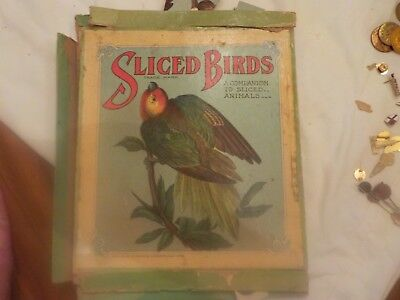 Vintage Sliced Birds Puzzle Pub. By Selchow & Righter New York