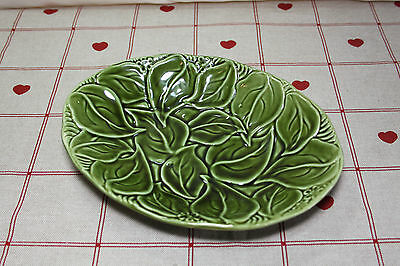 Unknown Vintage Green Ivy Leaf Plate Wither Sea Eastgate Pottery Cool Jade