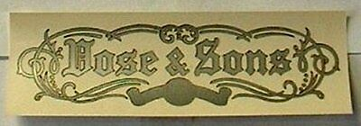 Vose & Sons Piano Fallboard Decal