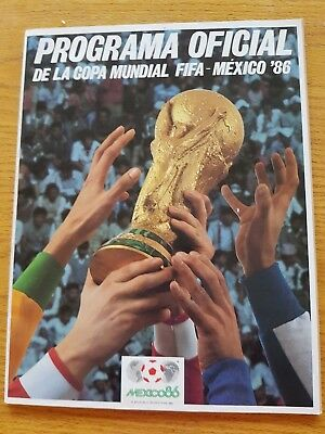 1986 World Cup Finals Tournament Football Programme (Official Mexico Edition)