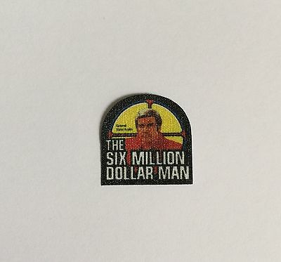 Six Million Dollar Man Cotton Chest Badge Adhesive Backing Just Like Originals!!