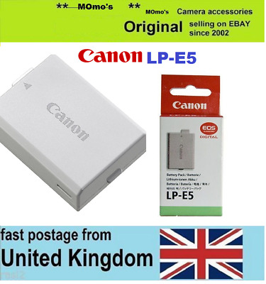 Original CANON battery LP-E5 EOS 450D 500D 1000D Rebel XS XSi Kiss F X3 X2 T1i