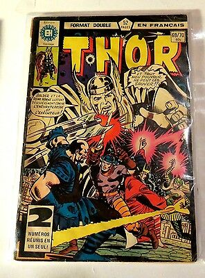 The Mighty Thor #69/70 Edition heritage (French) Double Issue Bronze age  CB1910