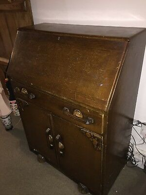 Antique Writing Bureau - Would Suit Shabby Chic Makeover / Upcycling