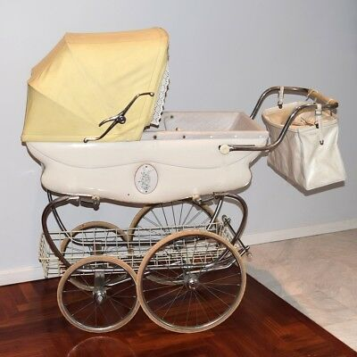 Vintage English Pram Baby Carriage Lewis Of London Circa 1970