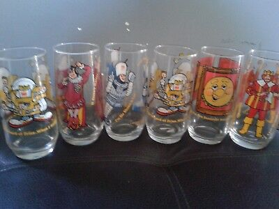 Set of 6 Vintage 1979 Burger King collectors cups advertising