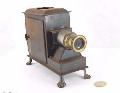 antique GBN magic lantern, one foot missing, no burner, as shown
