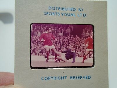 Rare Colour Slide Of George Best Manchester United 1960's By Sports Visual Ltd B