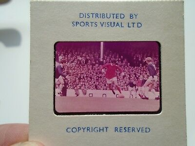 Rare Colour Slide Of George Best Manchester United 1960's By Sports Visual Ltd A