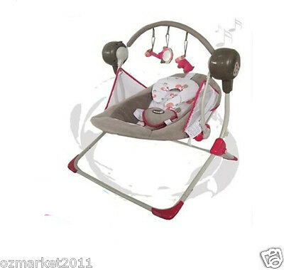 Luxury Security Grey Red Multi-Purpose Baby Swing Chair/Baby Rocking Chair XP
