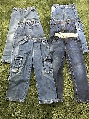 Lot Of 6 Boys Jeans 5t Toddler Kids Carter's Cat And Jack Garanimals Okie Dokie