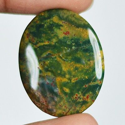 29ct Natural Best Grade Blood Stone Oval Cabochon from Africa AR6