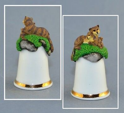Sterling Classic Tcc Thimble - Cat