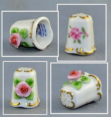 Lindner Germany Pink Rose Thimble