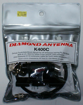 Diamond K400C Heavy-Duty Trunk Mount (UHF connection)