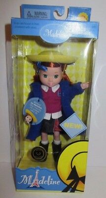 Madeline Doll Learning Curve School Girl 2003 NEW